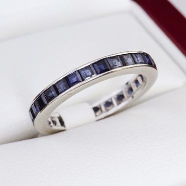 Purple wedding rings