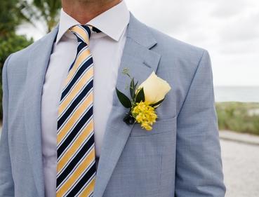 Yellow wedding buttonhole
