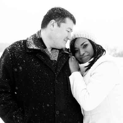 Winter outdoor engagement