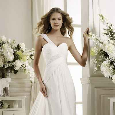 Mediterranean short sleeve wedding dresses