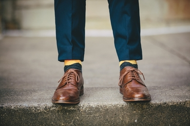 Brown wedding shoes