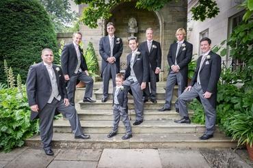 Blue wedding guests