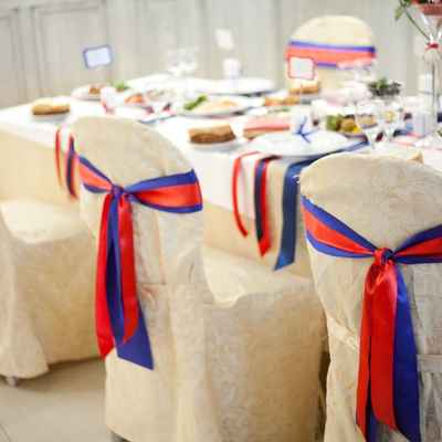 Marine ivory wedding reception decor
