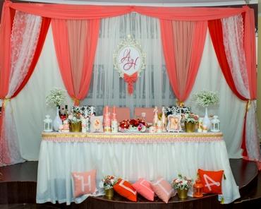 Red wedding reception decor