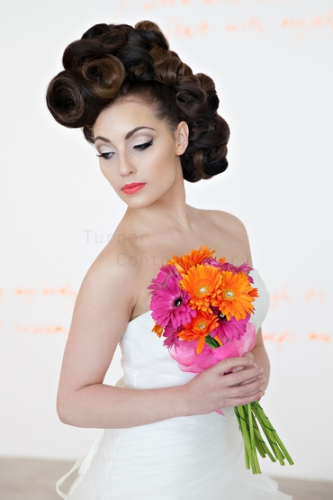 Orange gerbera wedding bouquet