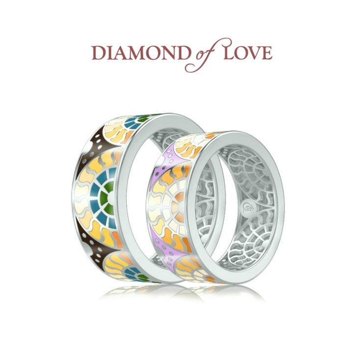 "Collection of wedding rings ""Talisman"" by the company DIAMOND of LOVE"