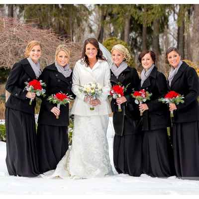Winter bridesmaids
