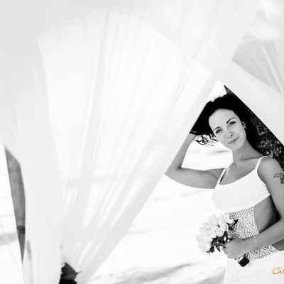 Marine white short wedding dresses