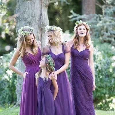 Outdoor purple wedding photo session ideas