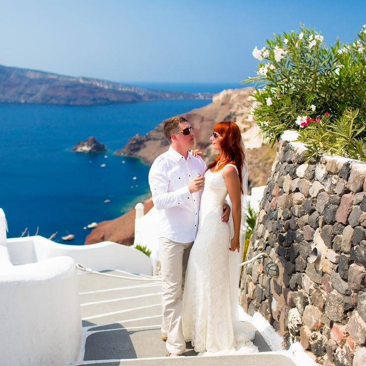 Olga & Aleksandr - Santorini Greece