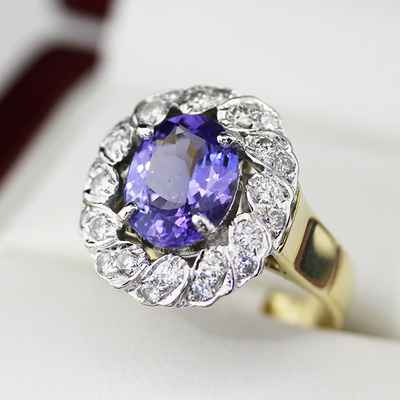 Purple wedding rings