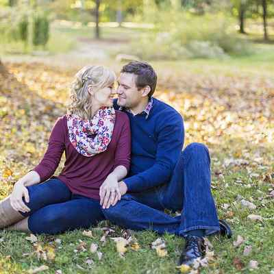 Outdoor autumn engagement