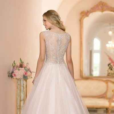 Pink long wedding dresses