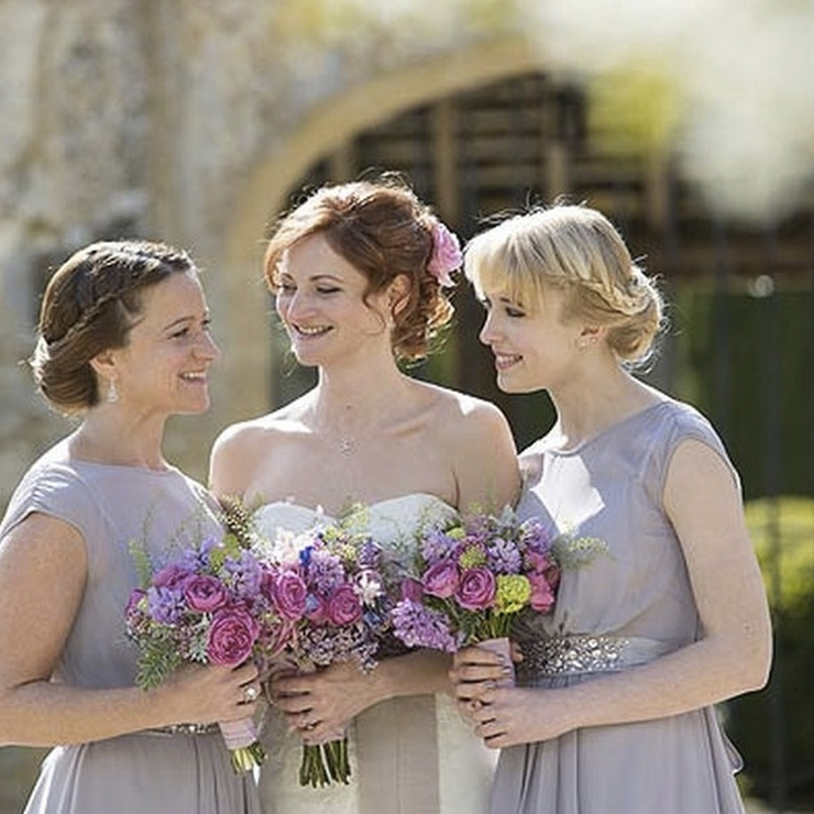 Pink and lilac spring wedding