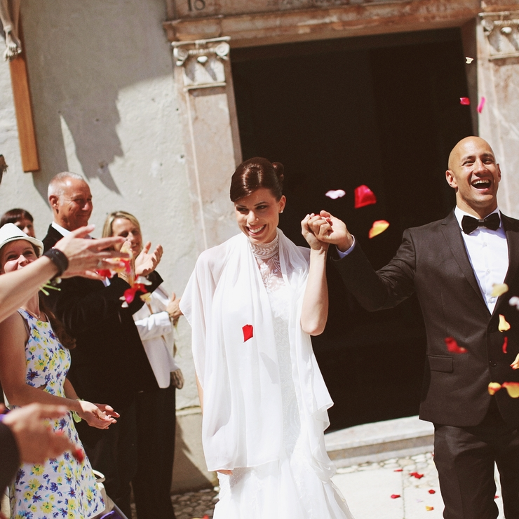 Petra and Peter's wedding at Lake Bled, Slovenia; Photos: Aljoša Videtič