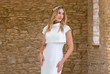 White closed wedding dresses