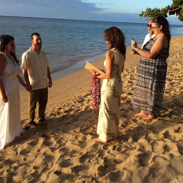 Anini Beach wedding