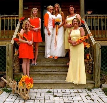 White bridesmaids