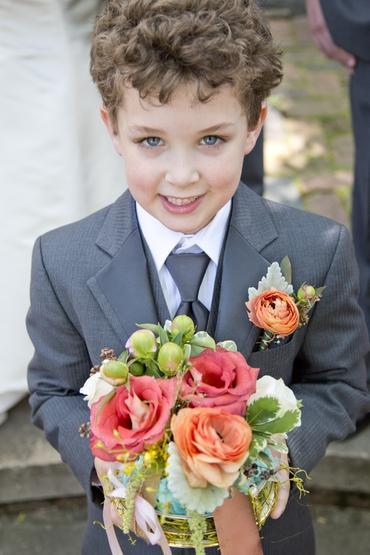 Grey kids at wedding