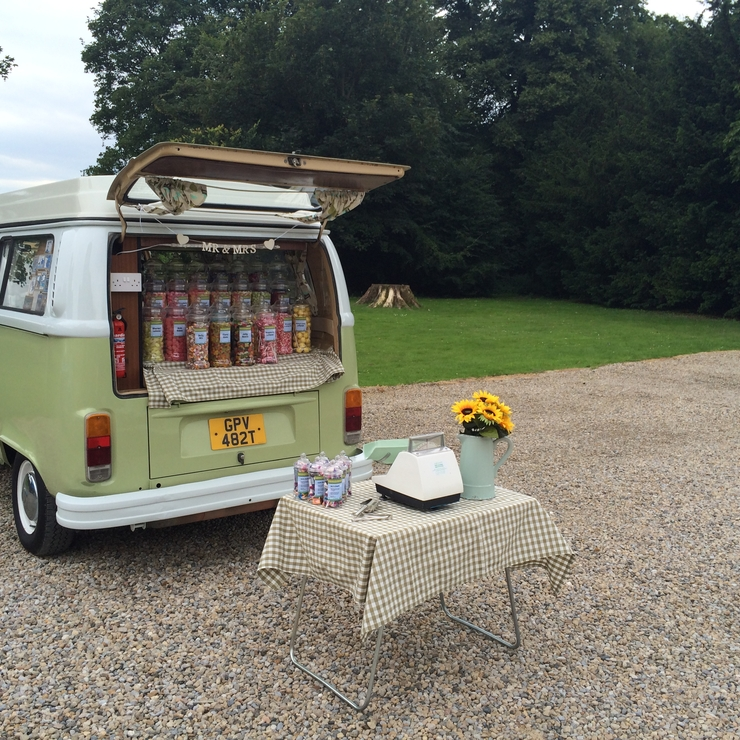 Vintage Vw Campervan Sweet Shop