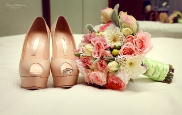 Pink bridal style