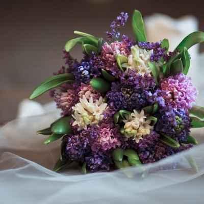 Purple lilac wedding bouquet