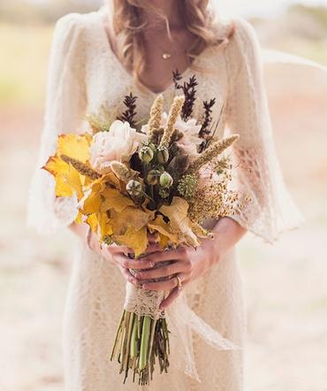 Rustic autumn alternative wedding bouquet