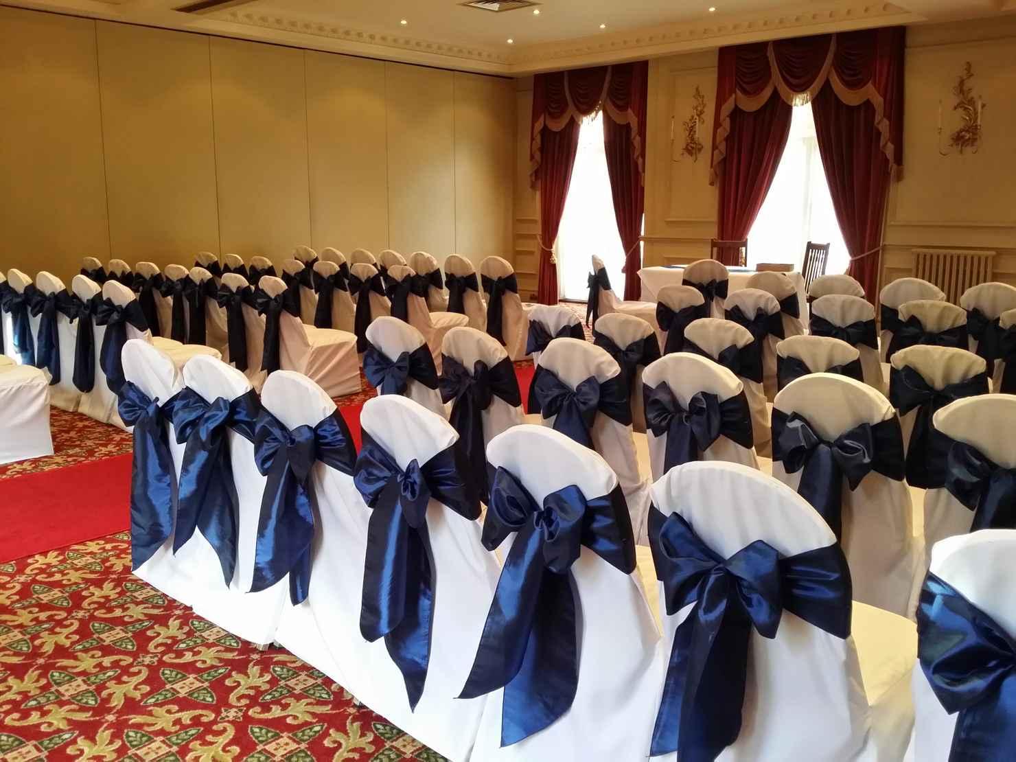 European white wedding ceremony decor