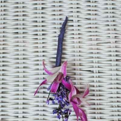 Purple buttonhole