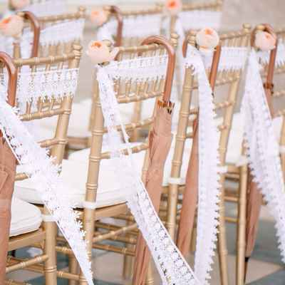 Brown wedding ceremony decor