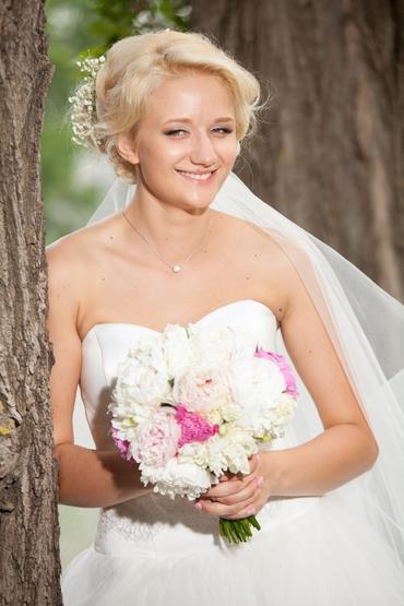 Pink long wedding hairstyles