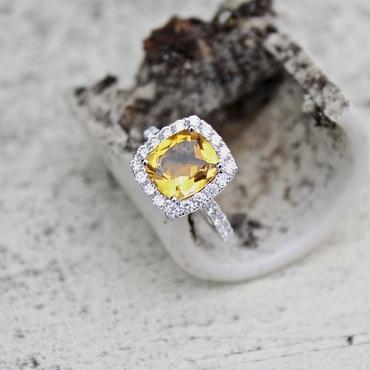 Yellow wedding rings