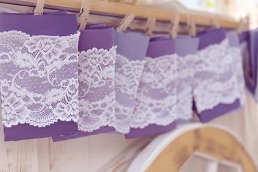Purple photo session decor