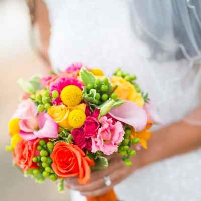 Yellow alternative wedding bouquet