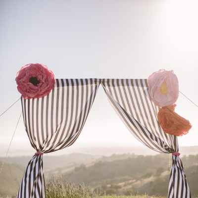 French summer wedding ceremony decor