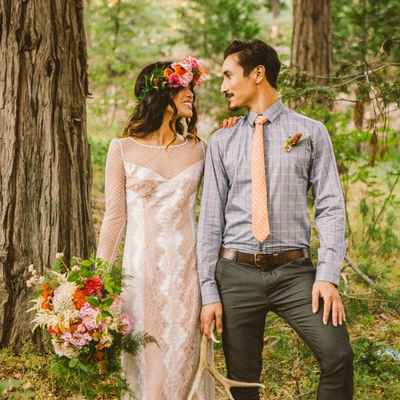 Outdoor ivory real weddings