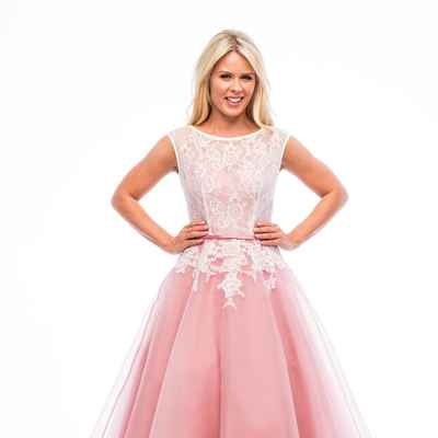 Pink short wedding dresses
