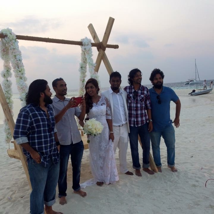 Sandbank #wedding #Maldives