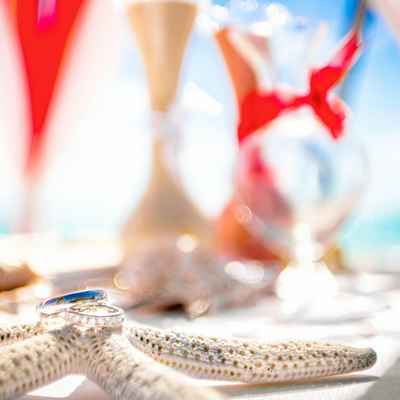 Marine wedding ring pillows