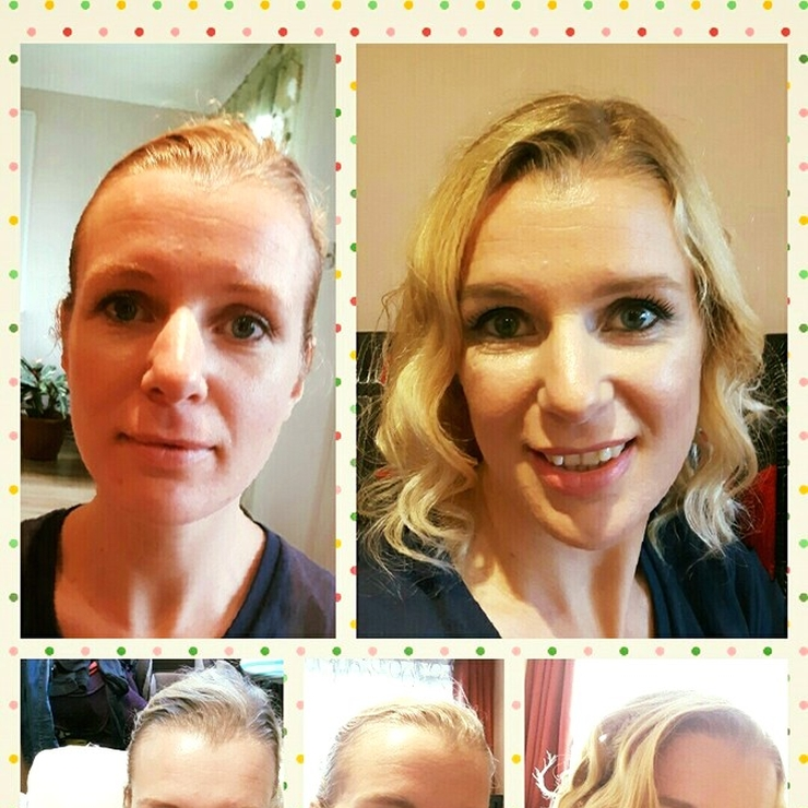 Makeup and hair trial