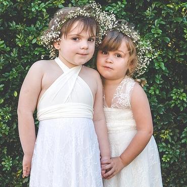 White outdoor kids at wedding