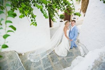 Mediterranean blue real weddings