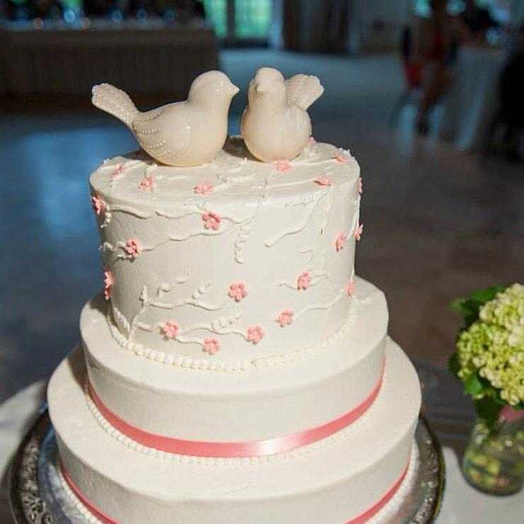 Wedding Bird Decor for Cake