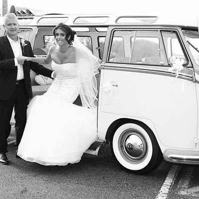 Vintage wedding transport