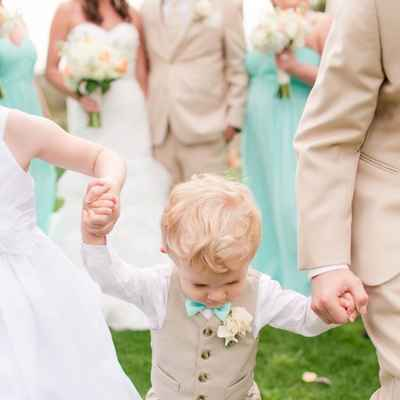 Outdoor ivory kids at wedding