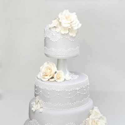 Grey wedding cakes