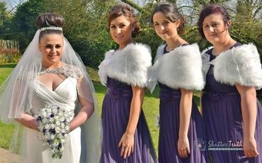 Purple bridesmaids