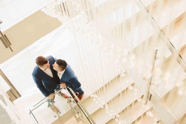 Overseas blue wedding photo session ideas