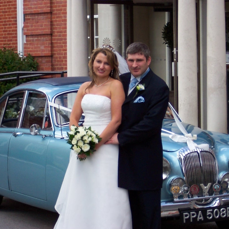 Our light blue Jaguar Mk2