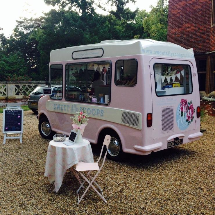 Wedding ice cream van